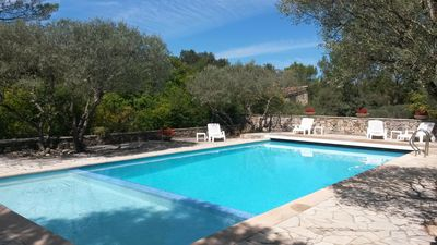 Photo for Mas and exceptional pool on 3 acres, quiet