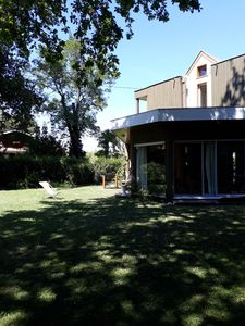 Photo for Charming house 50 meters from the beach on the Arcachon Bay