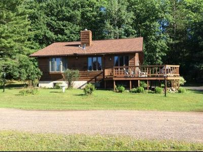 Photo for Minocqua Area Home Rental On Private Lake with Sandy Beach!!!