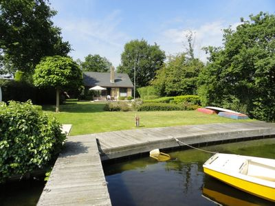 Photo for Detached house on the Veerse lake with its own jetty!