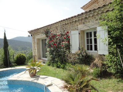 Photo for MAS-heated for 8 people-great-pool COURTINES comfort-Cévennes-Ardèche