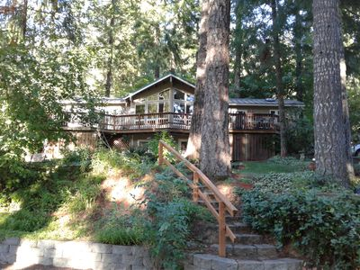 Peaceful Wooded Getaway with Wrap-Around Deck, Easy Lake Access