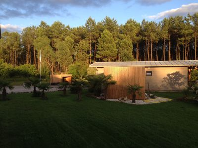 Photo for Independent bungalow in the heart of the Landes forest