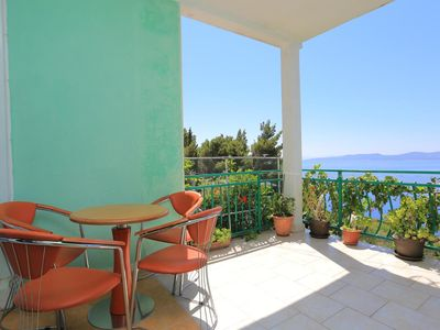 Photo for Studio flat with terrace and sea view Marušići, Omiš (AS-18323-a)