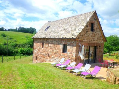 Photo for The AUVAYSOU cottage in Aveyron for 6 people at the gates of Conques with Wifi