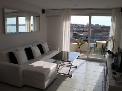 Photo for Sea View Apartment with Pool & Underground Parking