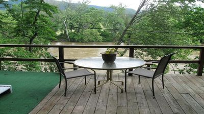 Photo for Siesta River Cabin,  Riverfront, fabulous views G.W. Forest, hottub, fireplace