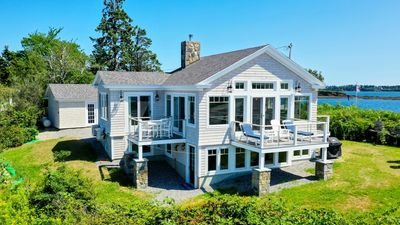 Photo for Brand new, year-round oceanfront home at the tip of Potts Pt. Private beach.
