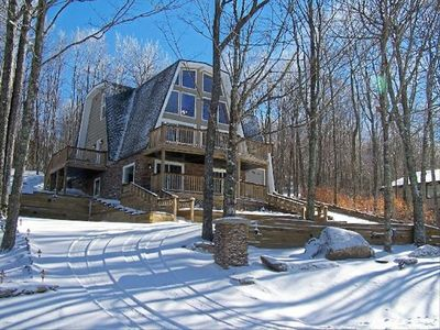 Photo for Beech Mtn, N C ! Luxury 5BR/3BA 3-Fireplce,Hottub,Wifi