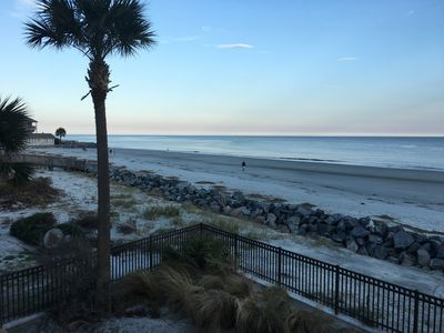 Beautiful view of the beach from our home!