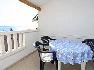 Photo for Studio flat with terrace and sea view Stanići (Omiš) (AS-10305-a)