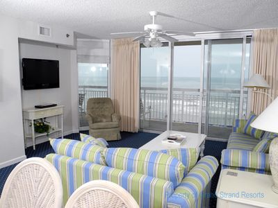 Photo for Crescent Shores Oceanfront Unit 409! Ocean Front Lazy River/Ocean Front Pool/On Site Grill Area