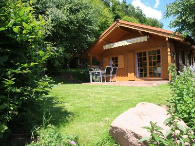 Photo for Höllenberghütte in Lug, modern holiday home in the Palatinate Forest, with garden sauna
