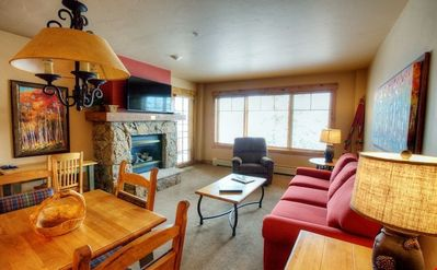 Photo for Charming Mountain Condo - A Perfect Ski Vacation Retreat!