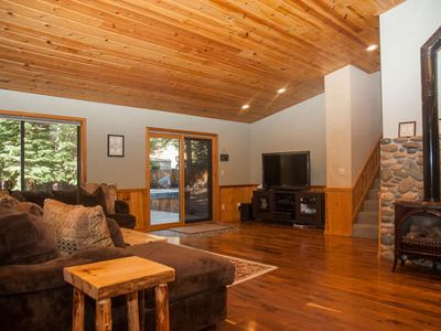 Photo for Pet and kid friendly w/fenced backyard & hot tub, minutes to Lake Tahoe beaches