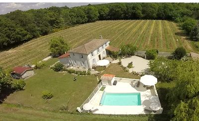 Photo for Pretty Charentaise villa with enclosed garden, private heated pool, sleeps 8 + 2