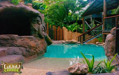 Photo for Hawaiian themed holiday hideaway, Coolum Beach - pool, spa, includes clean fee & linen