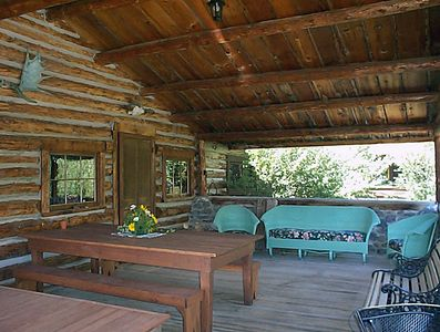 Enjoy your coffee and breakfast while listening to the creek on the front porch.