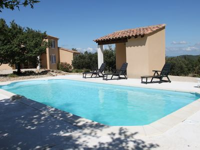 Photo for Detached house in the countryside with private pool and view of Mont Ventoux