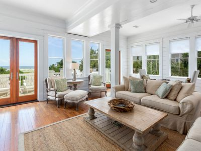 Photo for COVID-19 Disinfection Included - Beach Lawn Cottage - Magnificent Oceanfront Escape with Heated Pool