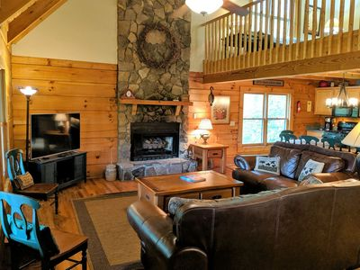 Photo for AMAZING SUMMER SAVINGS*Private VALLE CRUCIS Cabin*Hot Tub*2 Kings*Foosball