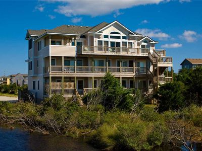 Photo for Kiteboarders Paradise! Soundfront Rodanthe w/ Pool, Hot Tub, Elevator, Game Room