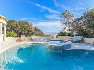 Photo for Classic Six Bedroom Oceanfront Home in Sea Pines with a Private Pool!