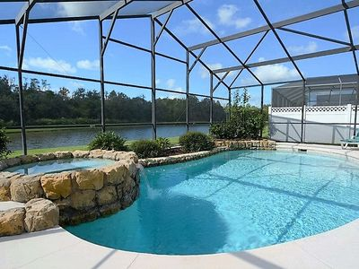 Photo for 4 Bedroom Disney Orlando/Kissimmee Vacation Home with Stunning Lakefront View, Games Room and Free WIFI!