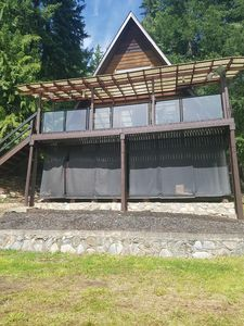 Photo for Anglemont cabin with spectacular Shuswap lake view