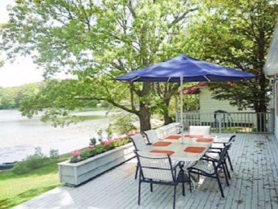 Photo for Ranch style waterfront home on private park like setting