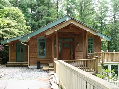 Photo for Peace of Mind - Pet Friendly Mountain Home, 2-sided Fireplace. 15 minutes to Boone!