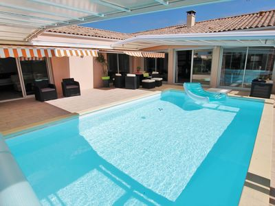 Photo for Villa La Savetière, comfy with a large pool, close to beach and a lot of...