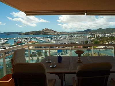 Photo for Luxury Large 3 Bedroomed Apartment, overlooking Marina Botafoch & Dalt Vila