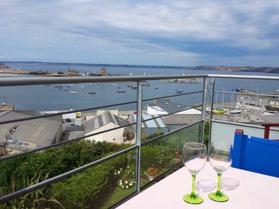Photo for Duplex Sea View overlooking the port of Camaret along the GR34 coastal path