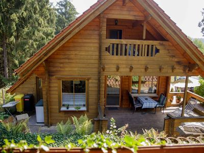 "Photo for Finnish LUXURY log cabin (house 1) in the nature park ""Pfälzer Wald"" (500 meters high)"