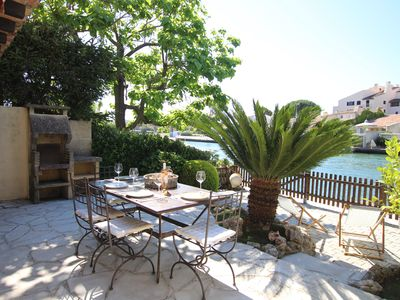 Photo for 2 room apartment, with large terrace and a 10m-mooring