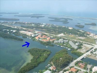 Aerial view of Tierra Verde including Holiday Island Condo Association