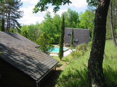 Photo for Nature lovers chalet nestled in the heart of Perigord with heated pool