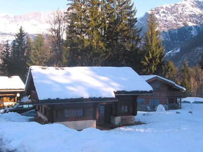 Photo for Authentic Chalet - Quiet And Peaceful Area - Splendid View On Mont Bla