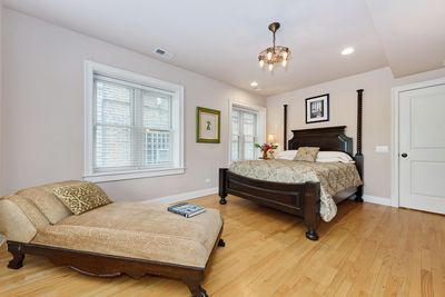 Master Suite with whirlpool tub, separate shower and walk in closet...