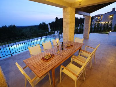 Photo for Family-Friendly Villa Babudri with Jacuzzzi and Incredible Sunset View