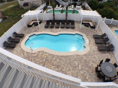 Photo for LUXURY VACATION HOME, HUGE PRIVATE POOL, PET FRIENDLY, WIFI, STEPS TO THE OCEAN