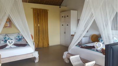 Photo for 4* FAMILY SUITE 36m2 2 beds Tropical Pool Villa, 8min to Beach Canggu Seminyak