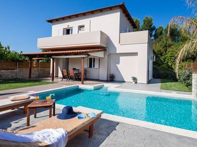 Photo for Villa Liakada: Directly At The Sea with private pool