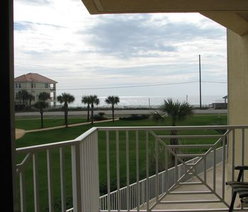 view of Gulf from the balcony