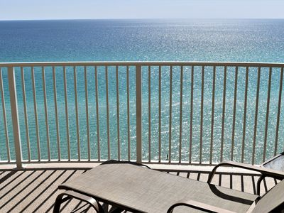 Photo for Free Front Row Beach Chair..Gulf Front, Spacious Balcony, Free WiFi