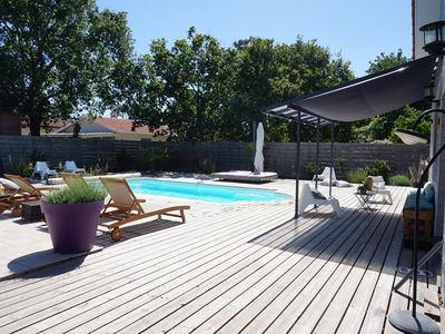 Photo for House of 150 m2 with heated pool 500 m from the beaches
