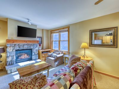 Photo for Slopeside retreat with shared hot tub, pool, game room, easy mountain access