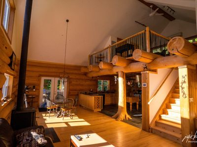 Photo for Legacy Log Cabin in Muskoka for Two, Romantic Setting on 90 Forested Acres