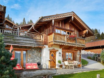 Photo for Cozy and rustic 4 * Almchalet for 6-9 persons